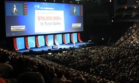 Internet Marketer Armand Morin speaking in front of 8,000 people in London, U.K.
